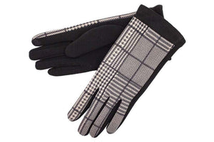 E-Tip Glove in Black Plaid