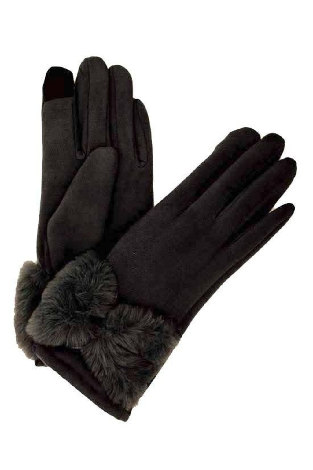 E-Tip Glove with Faux Fur
