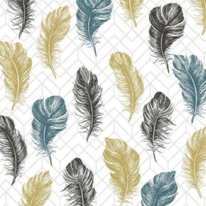 Feather Napkins, Set of 16