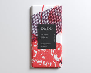 Coco Chocolatier Earl Grey Tea Dark Chocolate Bar