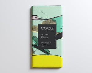 Coco Chocolatier Gin & Tonic Dark Chocolate Bar