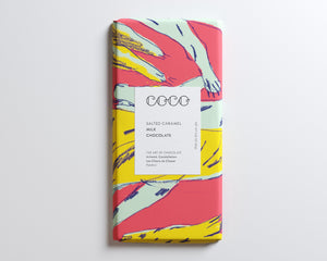 Coco Chocolatier Salted Caramel Milk Chocolate Bar