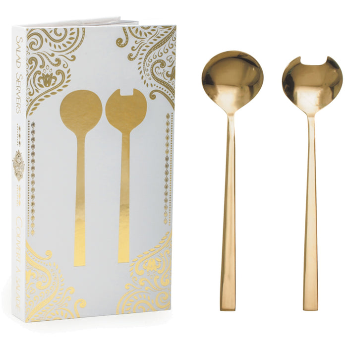 Gold Salad Serving Set