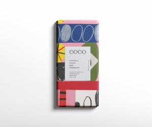 Coco Chocolatier Rhubarb & Ginger Milk Chocolate Bar