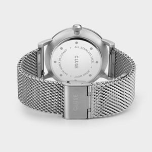 Aravis Mesh Watch, Dark Grey/Silver