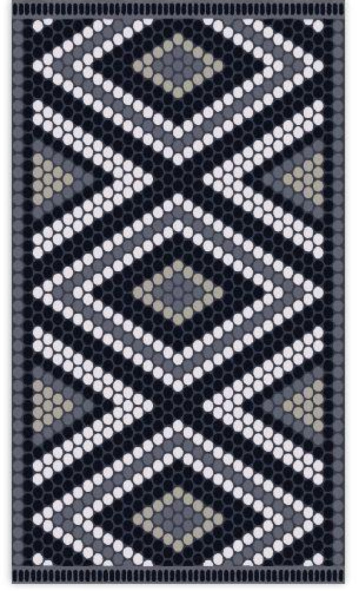 Large Diamond Vinyl Mat, Beaumont