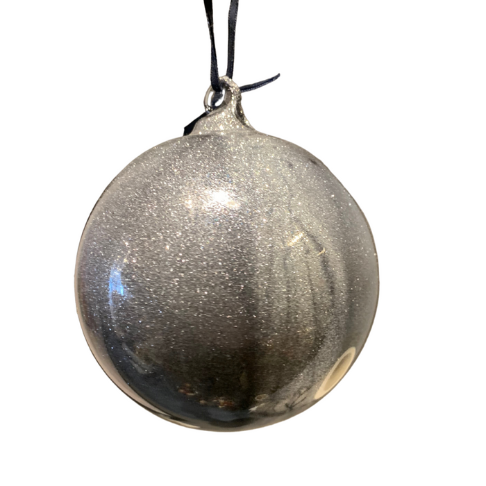 Utopia Silver Glitter Ornament