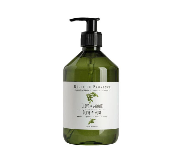 Belle de Provence Liquid Soap, Olive & Mint