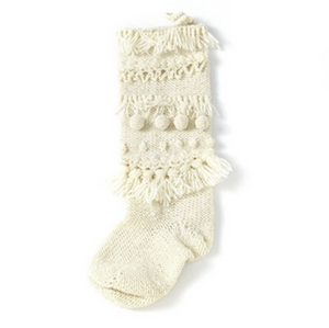 Pom Pom Knit Stocking