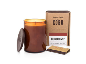 Woodblock Candle, Bourbon 1792