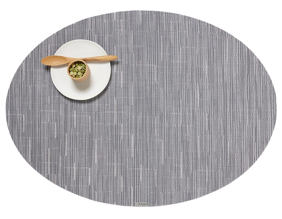 Plynyl® Bamboo Oval Placemat, Fog