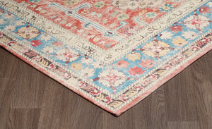 Medallion Distressed Washable Rug
