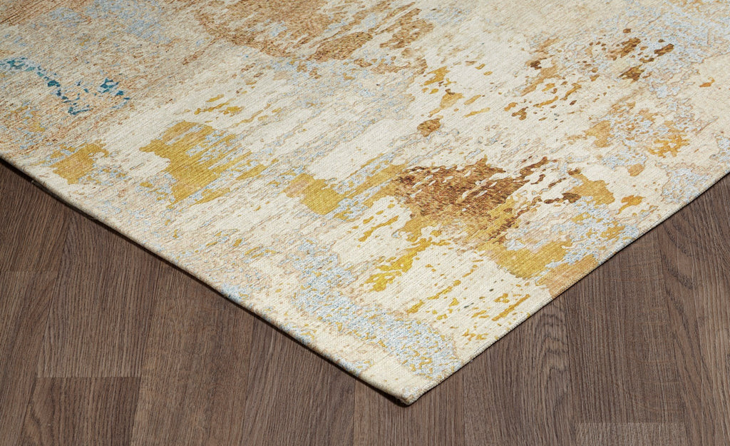 Marble Gold Washable Rug