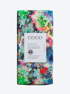 Coco Chocolatier Isle of Skye Sea Salt & Lime Milk Chocolate Bar