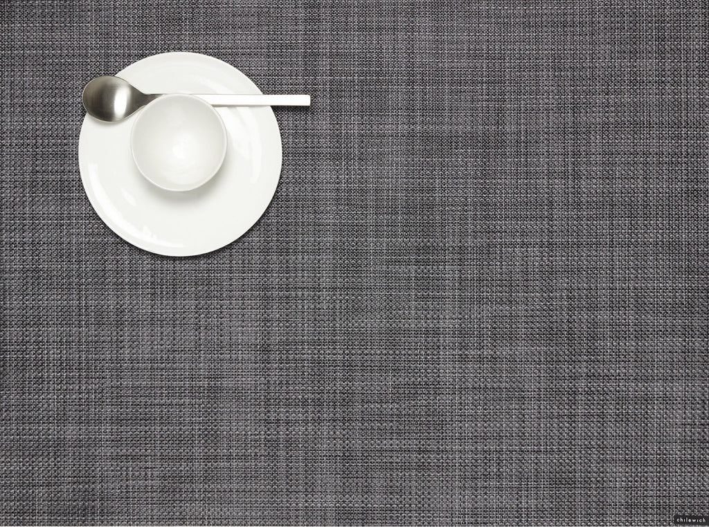 Plynyl® Mini Basketweave Placemat, Cool Grey