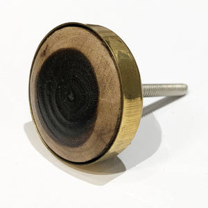 Wood Inlay Knob, Cream