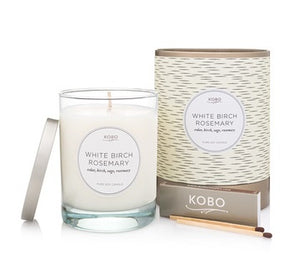 Coterie Candle, White Birch Rosemary
