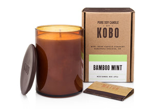 Woodblock Candle, Bamboo Mint