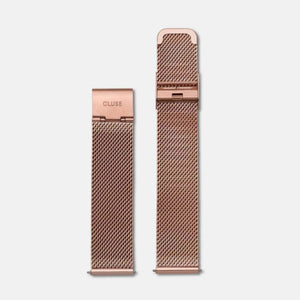 Mesh Watch Strap 18 mm, Rose Gold