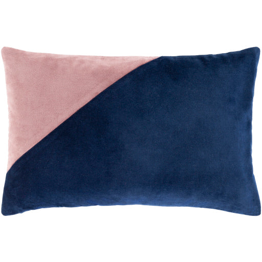 Geometric Pillow, Navy and Blush