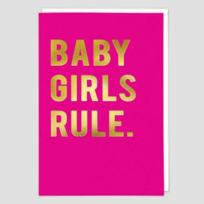 Baby Girls Rule Card