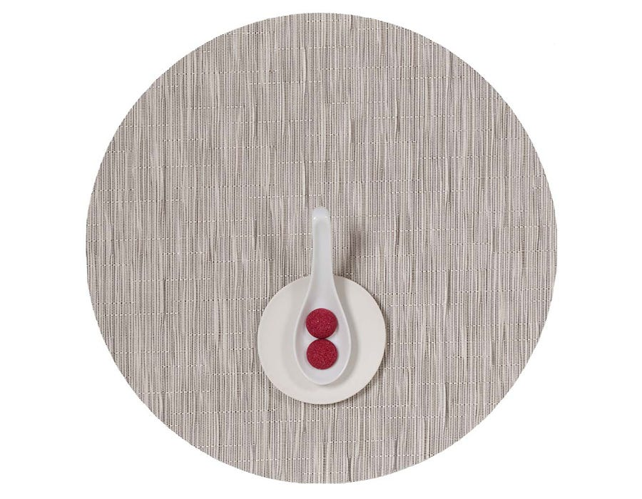 Plynyl® Bamboo Round Placemat, Chalk