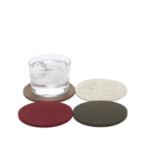 Bierfilzl Felt Coaster, Multi Colour Set