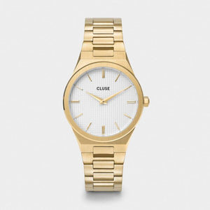 Vigoureux H-Link Watch, Gold & White