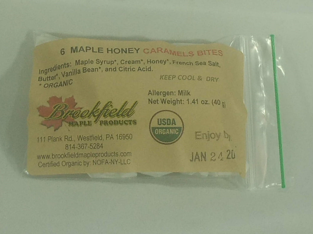Maple Honey Caramel Bites (Choose Size)