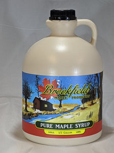 1/2 Gallon Jug Organic Maple Syrup (Choose Grade)