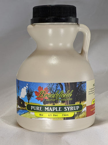 1/2 Pint Jug Organic Maple Syrup  (Choose Grade)