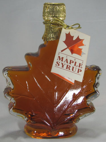 Maple Syrup - Glass Maple Leaf Bottle (Choose Size)