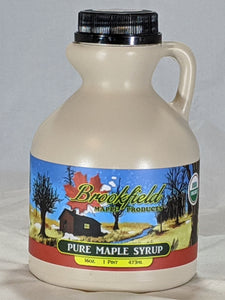 Natural Organic Maple Syrup (Pint Jug)