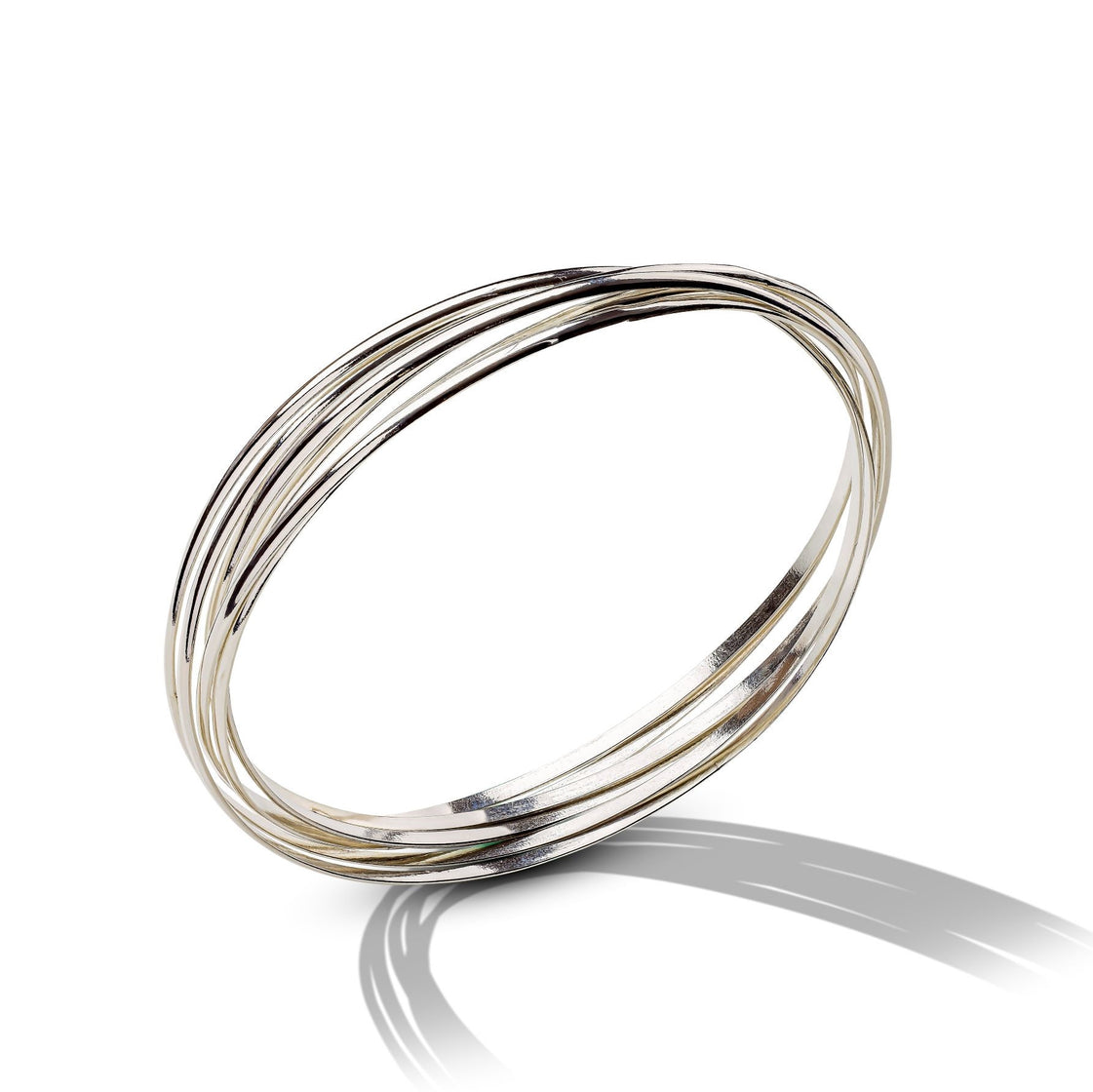 Sterling Silver Connected Bangle Bracelet