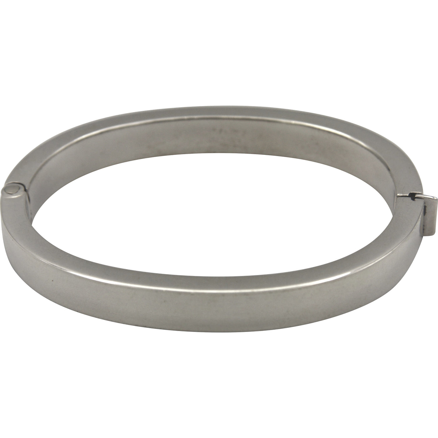 Sterling Silver Oval Hinged Bangle Bracelet