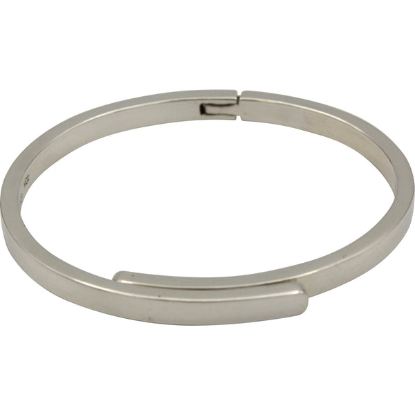 Sterling Silver Hinged Overlapping Bangle Bracelet