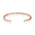 Copper Sterling Silver Round Accent Cuff Bracelet