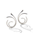 Sterling Silver Spiral Post Earrings