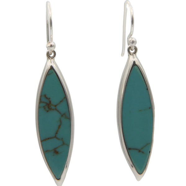 Sterling Silver Turquoise Drop Earrings