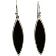 Sterling Silver Black Onyx Drop Style Earrings