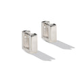 Sterling Silver Square Huggie Earrings