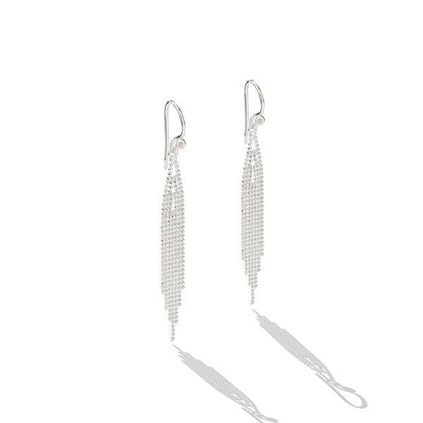 Sterling Silver Chain Drop Earrings