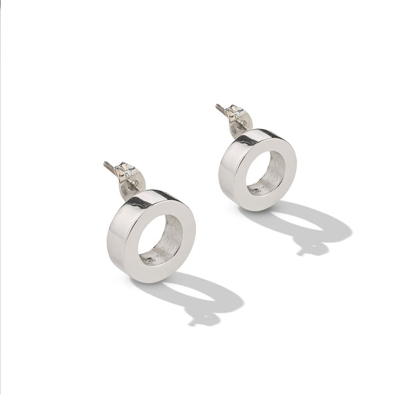 Sterling Silver Thick Circle Post Earrings