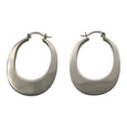 Sterling Silver Large Oval Hoop Earrings
