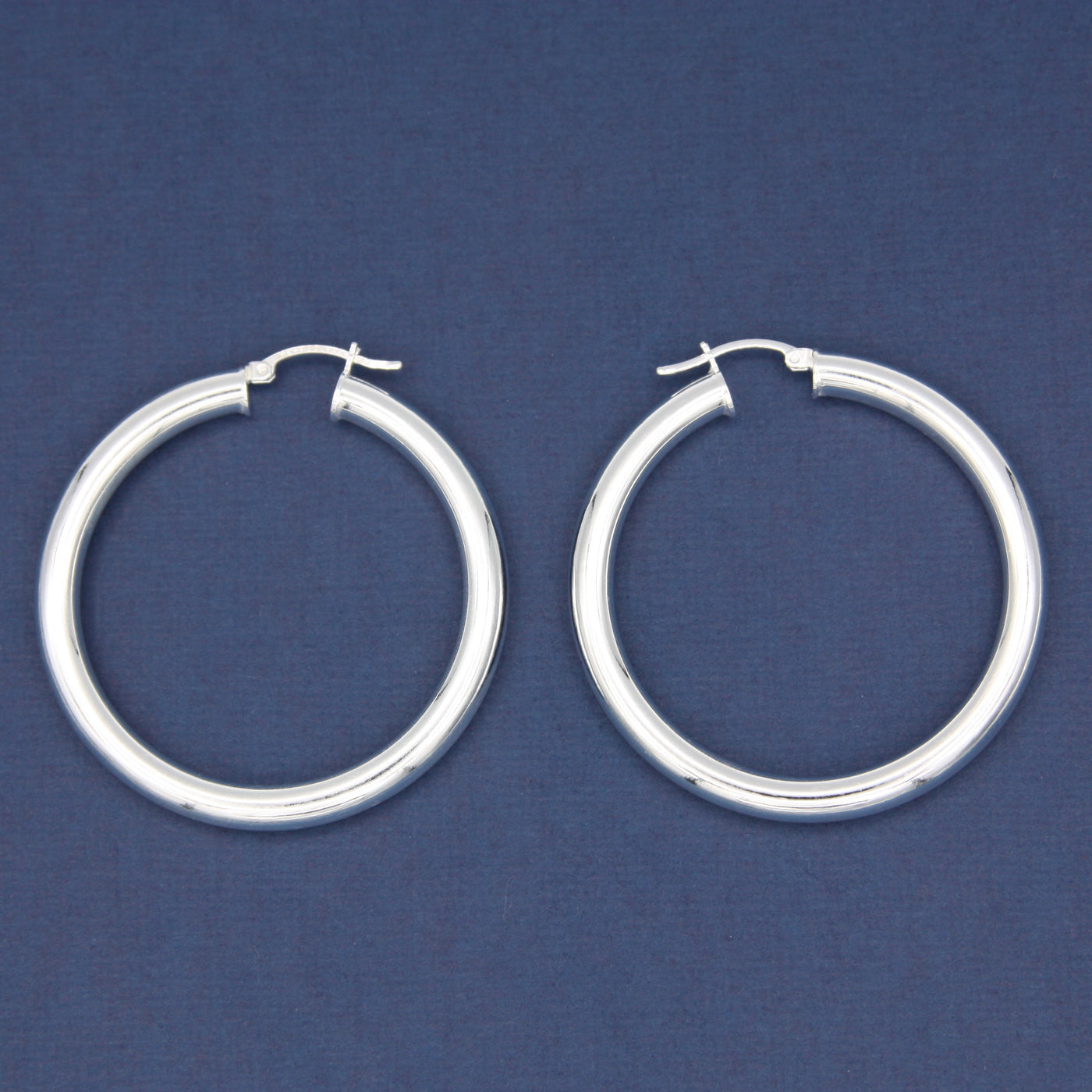 Sterling Silver Medium Hoop Earrings