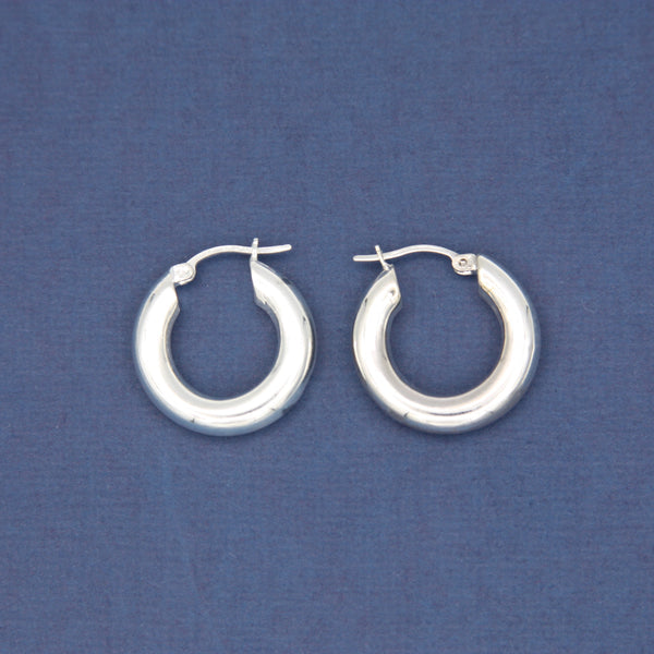 Sterling Silver Small Hoop Earrings