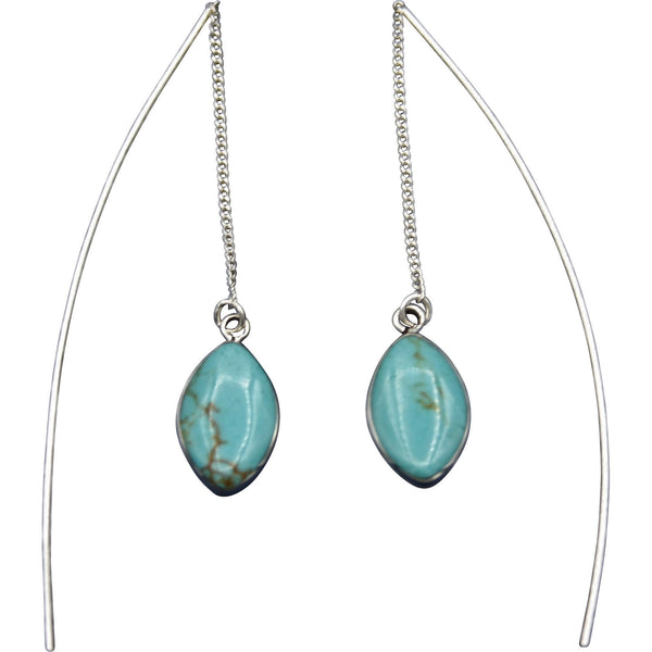 Sterling Silver Turquoise Threader Earrings