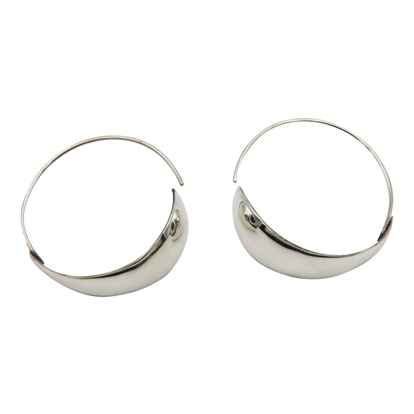 Sterling Silver Two-Toned Hoop Earrings