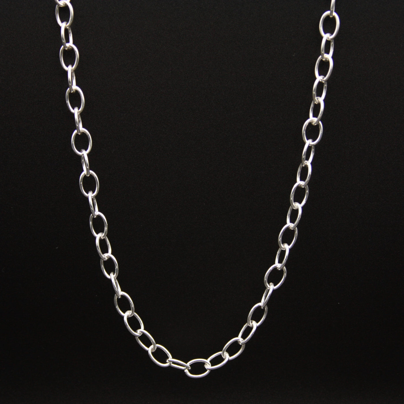 Sterling Silver Small Link Necklace 18""