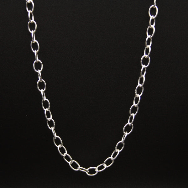 Sterling Silver Small Chain Link Necklace 20""